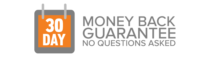 We provide 30-day of no questions moneyback guarantee